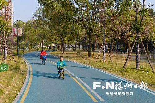 福州闽江公园北园道路提升基本完成 4公里长碧蓝园路串起沿途公园