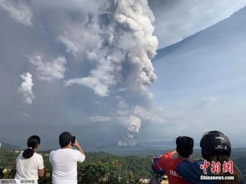 菲律宾火山喷发:45万人恐需撤离 或引发火山海啸
