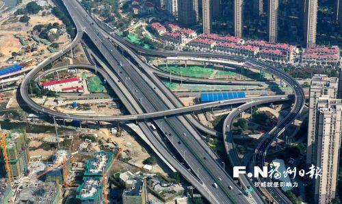 福州林浦互通2条匝道15日通车 串起南二环与江滨路
