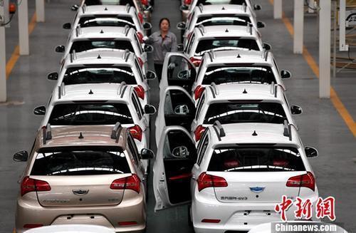 资料图:新能源汽车生产线。<a target='_blank' href='http://www.chinanews.com/'>中新社</a>记者 张斌 摄