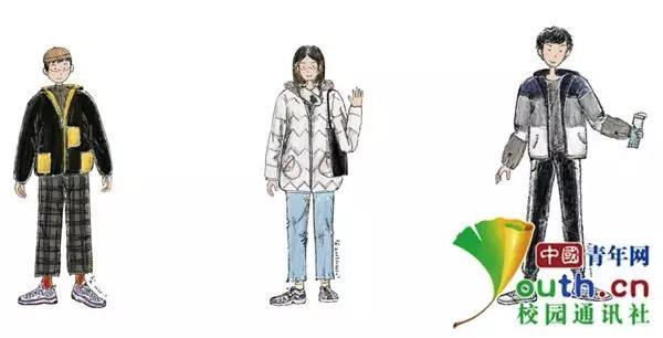 考研女生用30天手绘68张漫画 记录同学身影