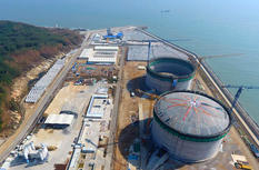 中海油漳州LNG一号储罐成功升顶