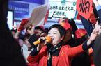 福建:外來務工人員坐專列返鄉過節