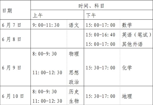 北京高考变为4天怎么回事?北京高考时间安排出炉为什么变为4天