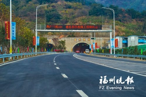 穿过鼓岭隧道和闽安隧道,从主城区到马尾更快了。