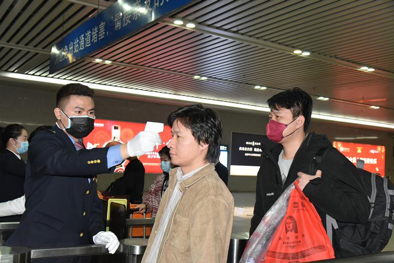 福廈主要車站已設置旅客異常體溫醫學排查點