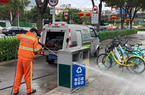 福州增设废弃口罩专用垃圾桶 加强消杀防控工作