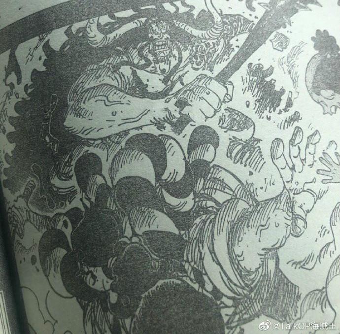 海賊王漫畫970話:最強生物凱多跌下神壇,靠著陰招才贏的御田