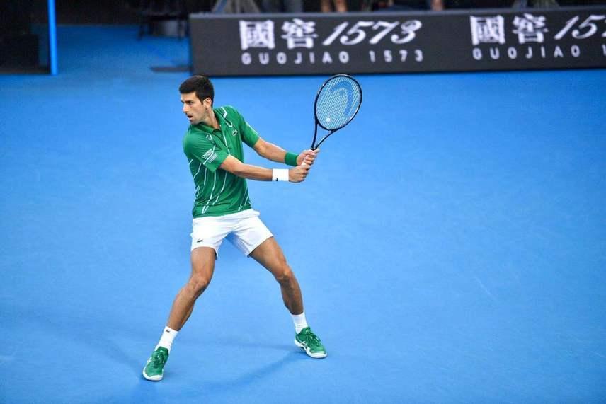 德约澳网8冠王 五盘逆转蒂姆 冠军之夜秀中文