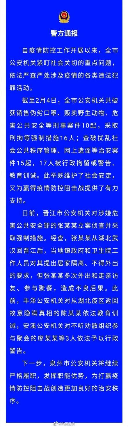 晋江男子不顾隔离要求多次走访聚餐被立案侦查 晋江男子是谁都接触了哪些人