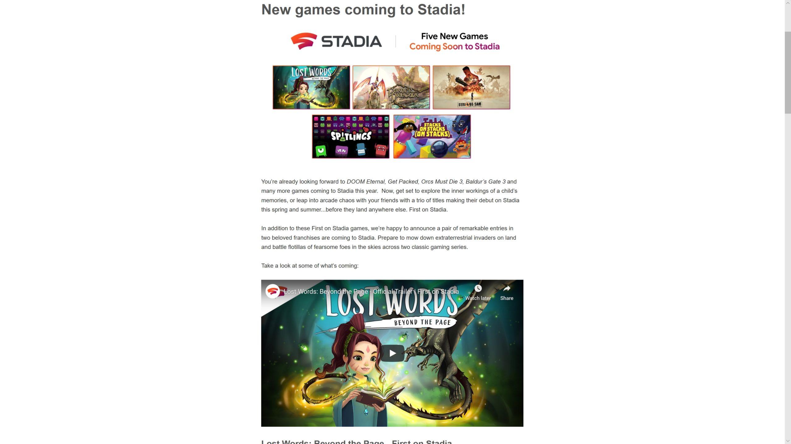 谷歌:《博德之门3》将于年内上架Stadia发售