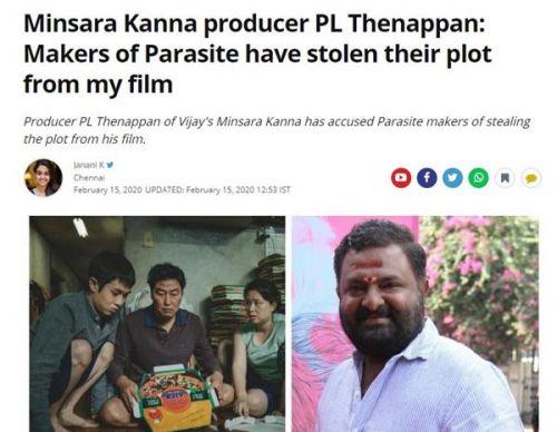印度电影制片人称寄生虫抄袭怎么回事?寄生虫抄袭了哪部影片
