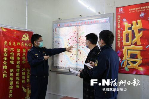 保障车队党员先锋岗研究医务人员出行保障方案。(市道运中心供图)