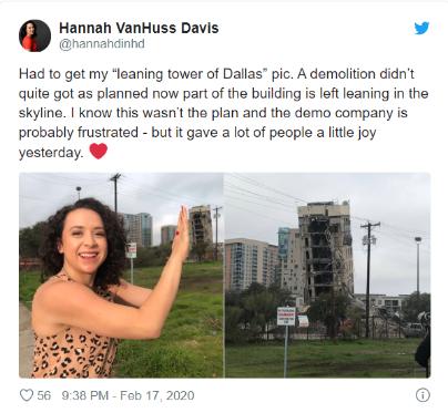 美一高楼爆破拆除失败 成新版比萨斜塔