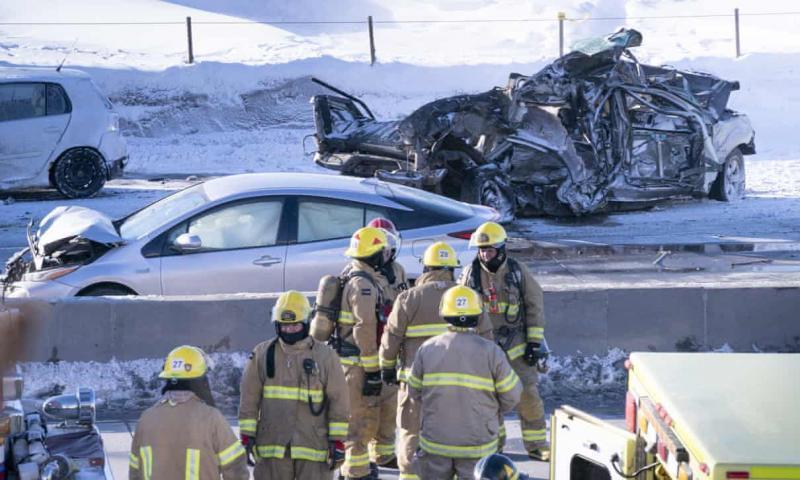 事故现场(图片来源:《卫报》)