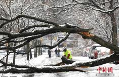 冬季风暴袭美国东部带来强降雪 逾千万人受影响