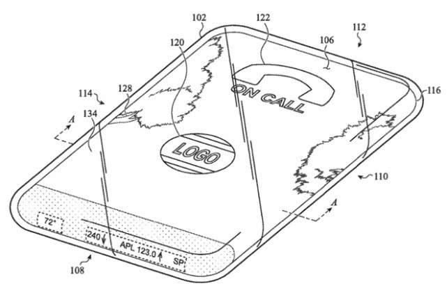 苹果研究配环绕触摸屏全玻璃iPhone 可以在任意表面显示信息