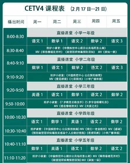 中国教育台cetv4空中课堂回看重播开学第一课视频方法