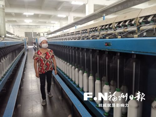 金源纺织防疫生产两手抓 党员志愿者暖心服务返岗工人