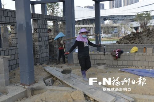 闽侯旗山湖项目加快施工 人员全部返岗增加设备投入