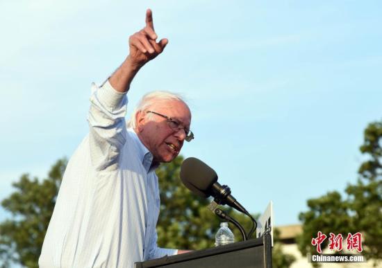 美民主党初选正酣 民调:桑德斯加州支持率领跑众人