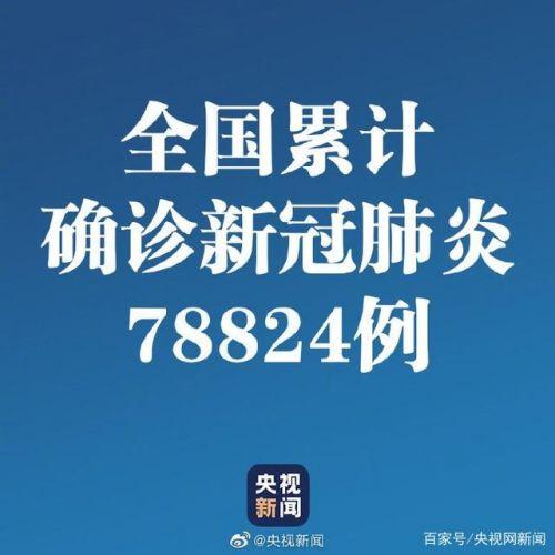 31省区市累计报告78824例新冠肺炎!2月28日全国疫情最新消息