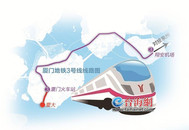 廈門地鐵3號線將從廈門火車站延伸至廈大