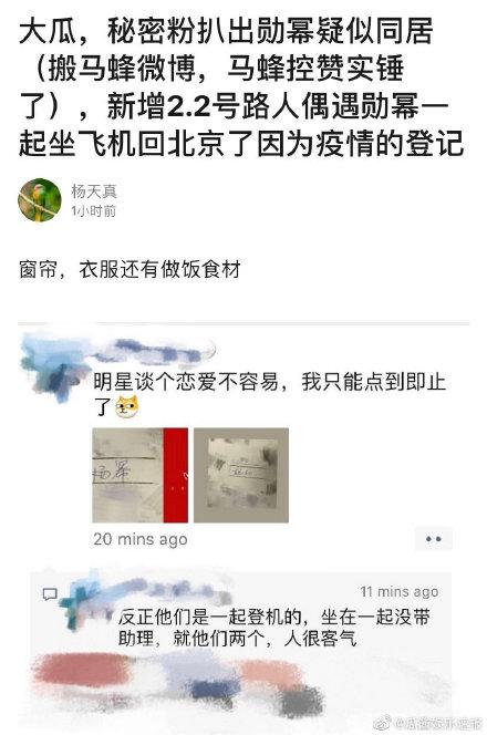 杨幂魏大勋被传同居还一起坐飞机 女方粉丝辟谣了