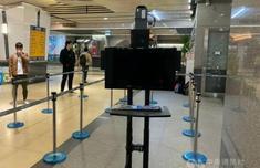 防疫升级 台铁首台红外线热显像仪南港车站测试