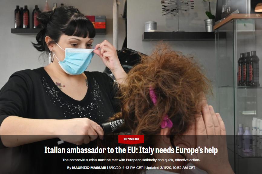 意大利大使批欧盟成员国无一响应:只有中国回应