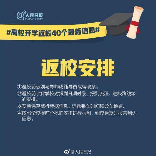 高校开学返校40个最新信息是什么?2020各省高校开学时间几月几号