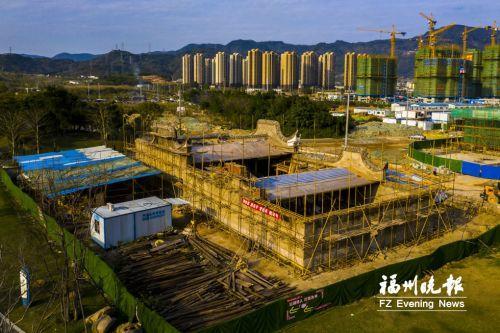 清末古厝飛進鶴林生態公園 福州晉安區上社10號古厝完成主體遷建