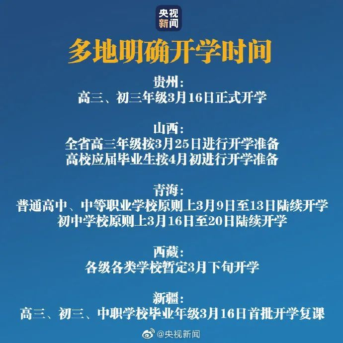最新!8省市確定開學時間,福州這所學校發通告!