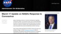 两名员工确诊感染后 NASA要求所有员工远程办公