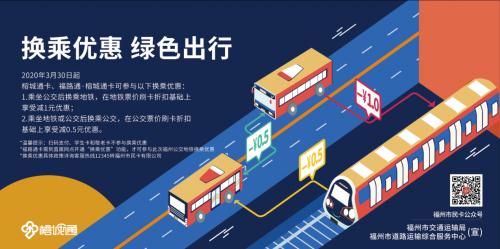 3月30日起 福州公交地铁换乘有优惠
