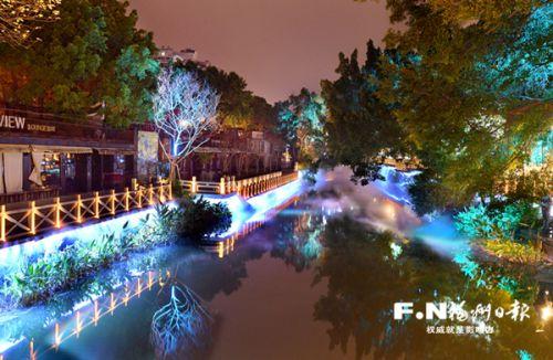 福州打造白马河—西湖—左海夜色景观带