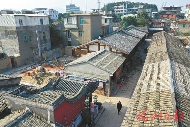 长乐首里街改造接近尾声 建筑及
