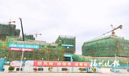 滨海新城第四小学项目建设现场。