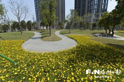 福州:街头小公园亮相闽江边 计