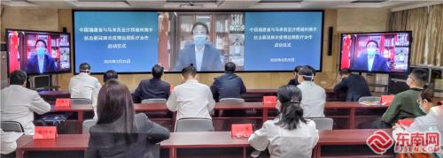 福建首场跨国远程医疗合作启动。福建日报记者 储白珊 摄