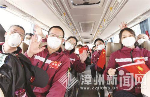 春暖花開英雄歸來 三批漳州支援湖北醫療隊返閩