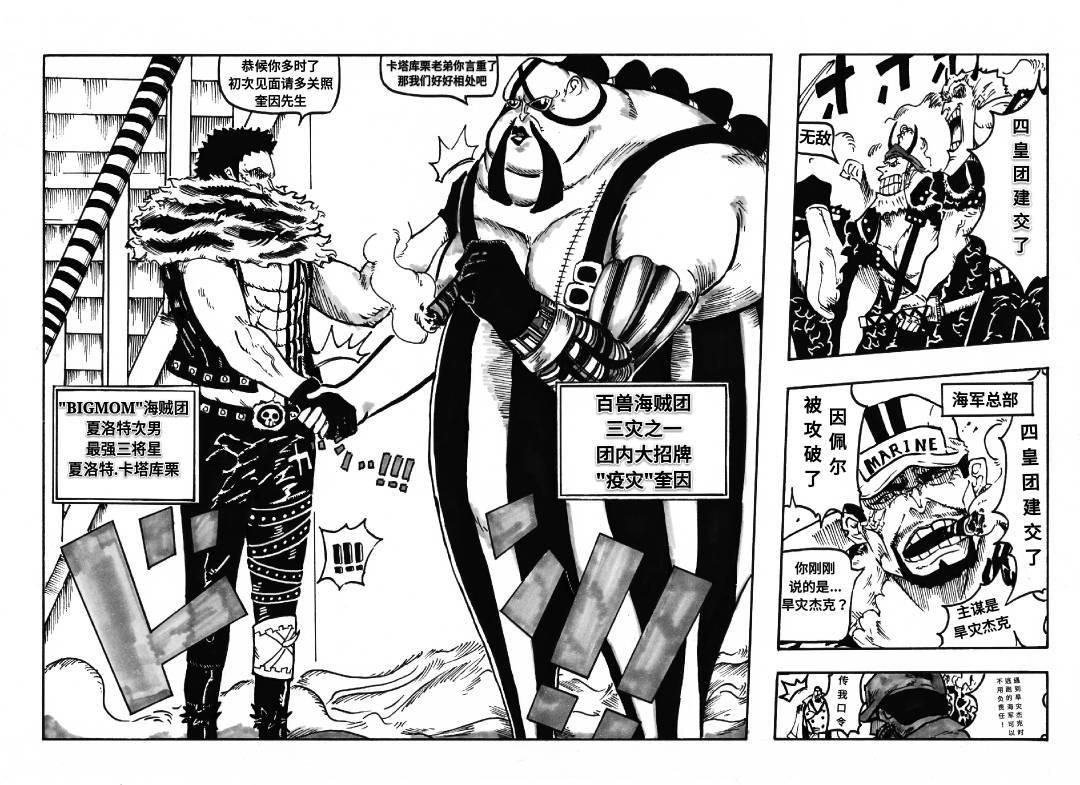 海賊王漫畫976話鼠繪漢化免費在線看 凱多和bigmom聯手攻打革命軍