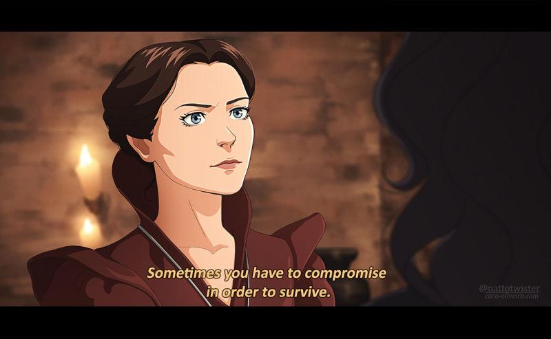 如果《巫師》劇集是部動畫片 畫師繪制劇版經典場景