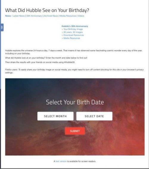 你生日那天的宇宙是什么样子怎么查 NASA官网查看教程