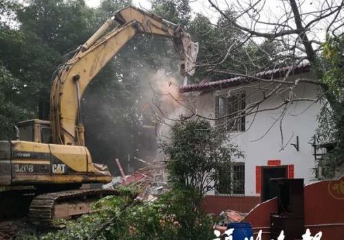 福州台江区8宗存在安全隐患违建被拆除