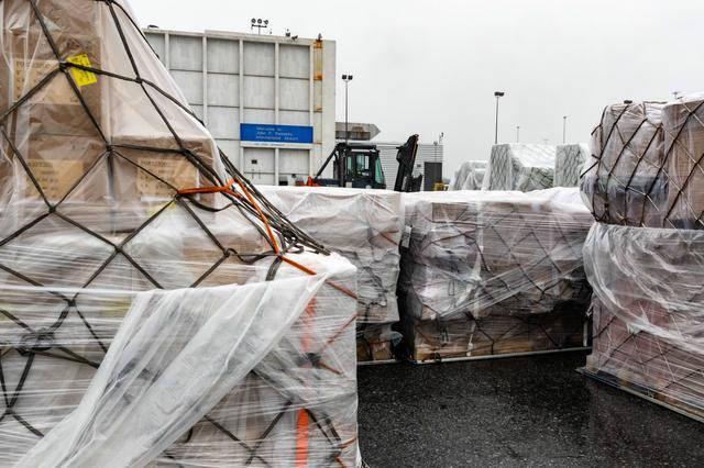 中國物資抵達紐約 中國援助美國什么物資數量多少?