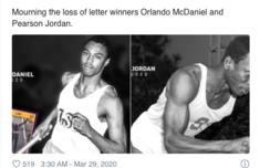 短跑名将感染新冠肺炎去世 皮尔森·乔丹个人资料