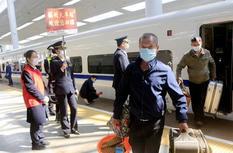 武漢解封后首趟來榕旅客列車抵達福州