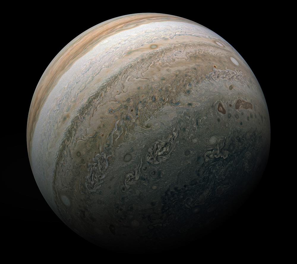 NASA发布超清晰木星照 NASA超清晰木星照组图一览