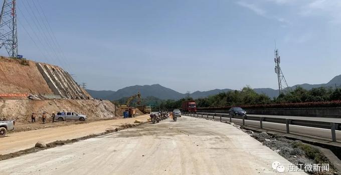国道主干线福州绕城公路西北段飞石互通工程又有新进展